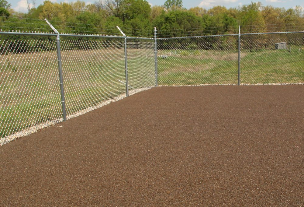 Indiana animal shelter completed with Porous Pave dog exercise areas