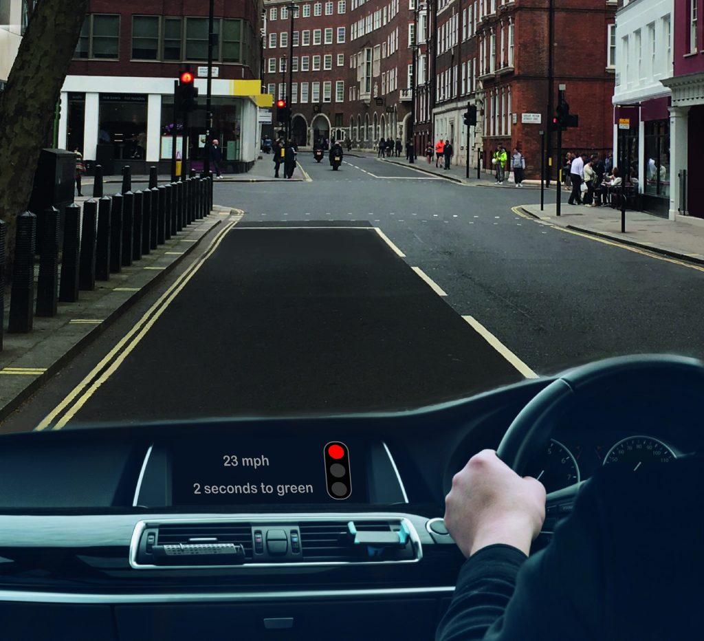 How drivers could be notified of the time remaining before traffic lights change