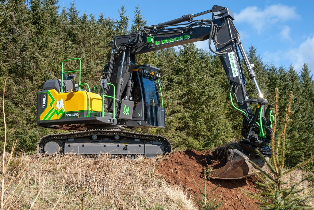 Second bespoke Volvo EC140ELM Forestry Excavator for BM Excavations