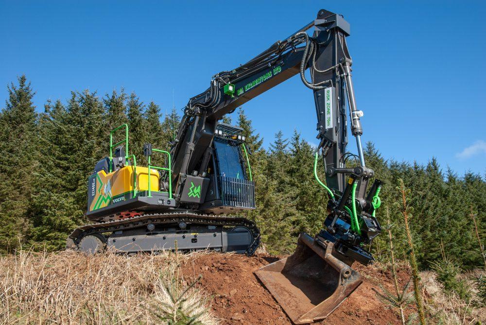 Second bespoke Volvo EC140ELM Forestry Excavator for BM Excavations