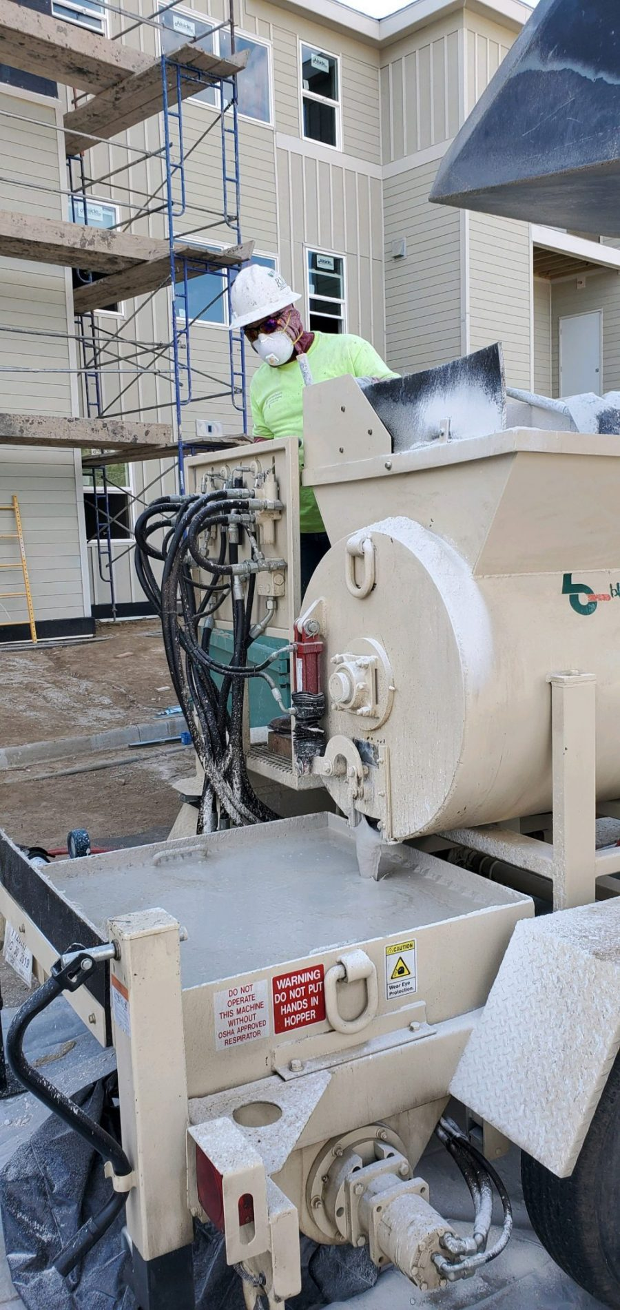 Blastcrete introduces RS180 Mixer-Pump for high-volume Gypsum applications