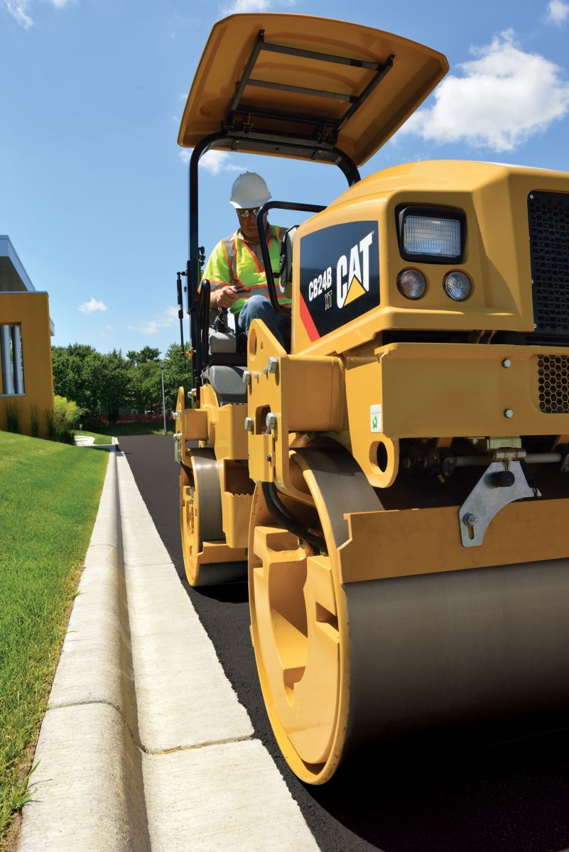Cat CB24B small vibratory roller