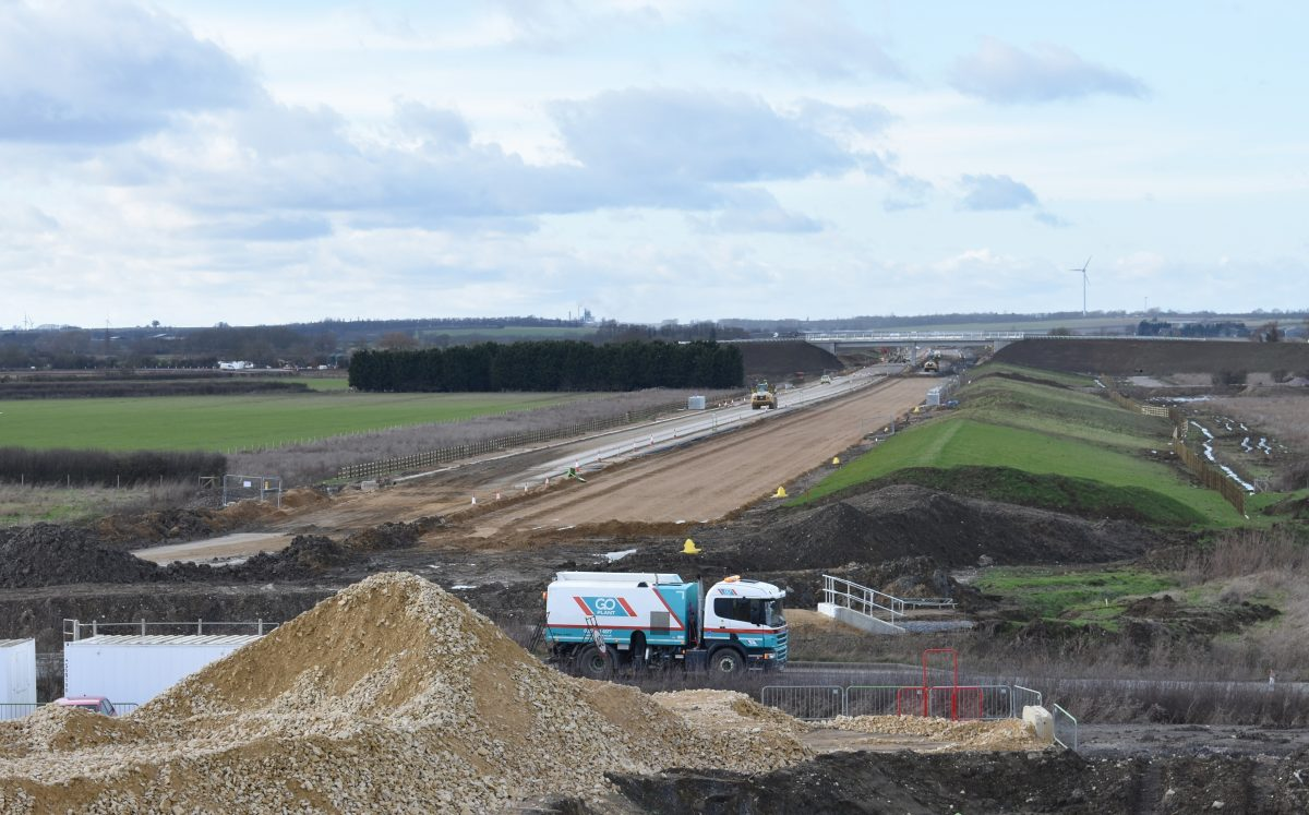 Go Plant Fleet Services supports key A14 road improvement project in the UK