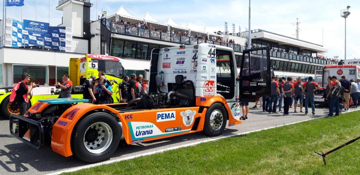 CASE sponsors Team Schwabentruck in the 2019 FIA European Truck Racing Championship