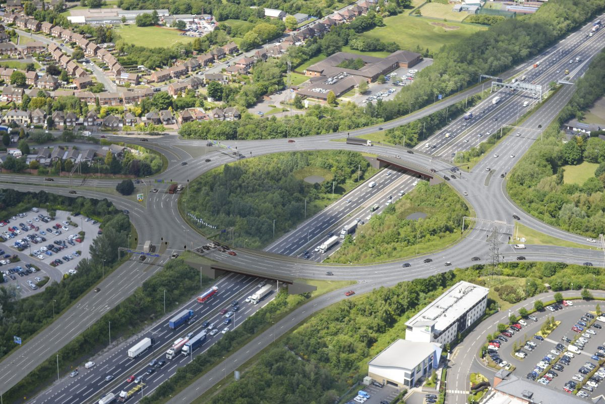 £78m M6 junction 10 upgrade to start in the Autumn in UK