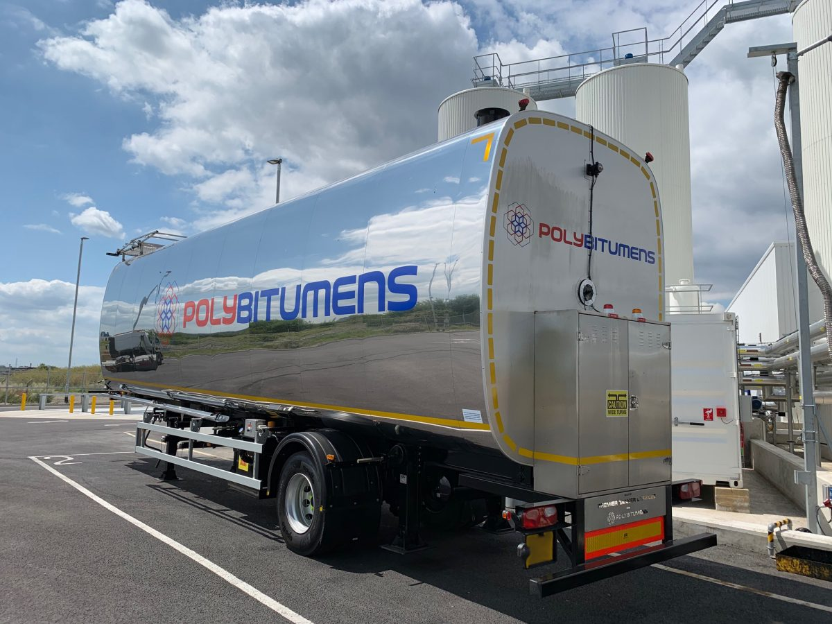 PolyBitumens invests in first UK road legal mobile storage bitumen tank