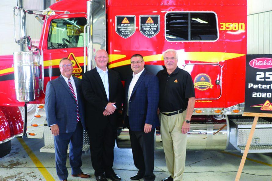 Decker Truck Line celebrates delivery of their 2,500th Peterbilt