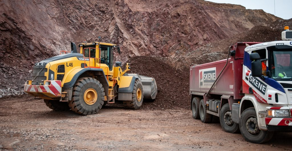 Skene adds more Volvo Loaders for its Soutra and Lomond quarries in Scotland
