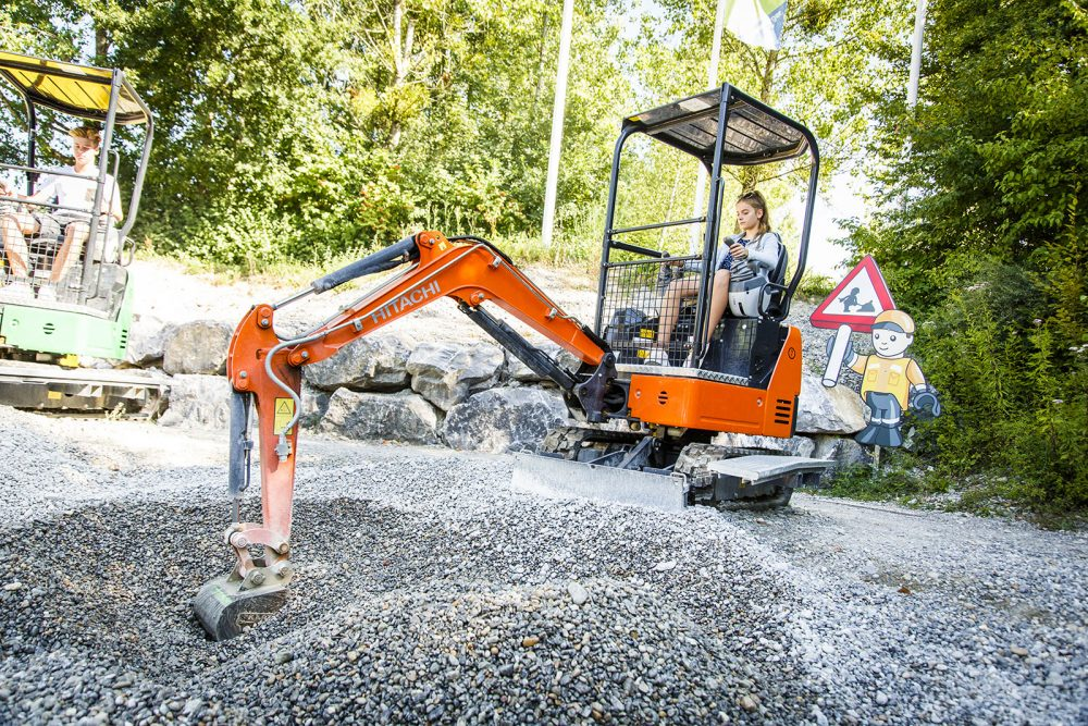Hitachi mini excavators one of the main attractions at Ravensburger amusement park