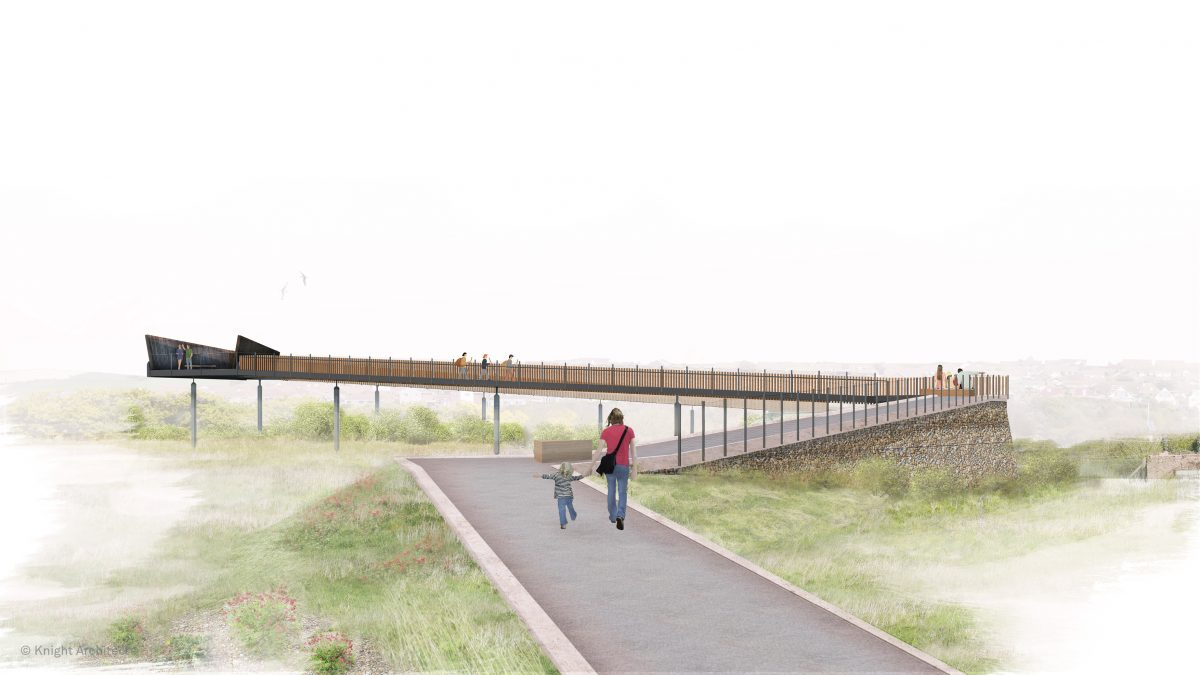 Unique railway footbridge design for South Downs National Park in England