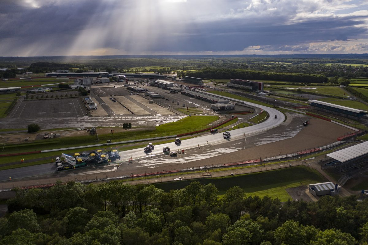 Tarmac takes the chequered flag for Silverstone resurfacing