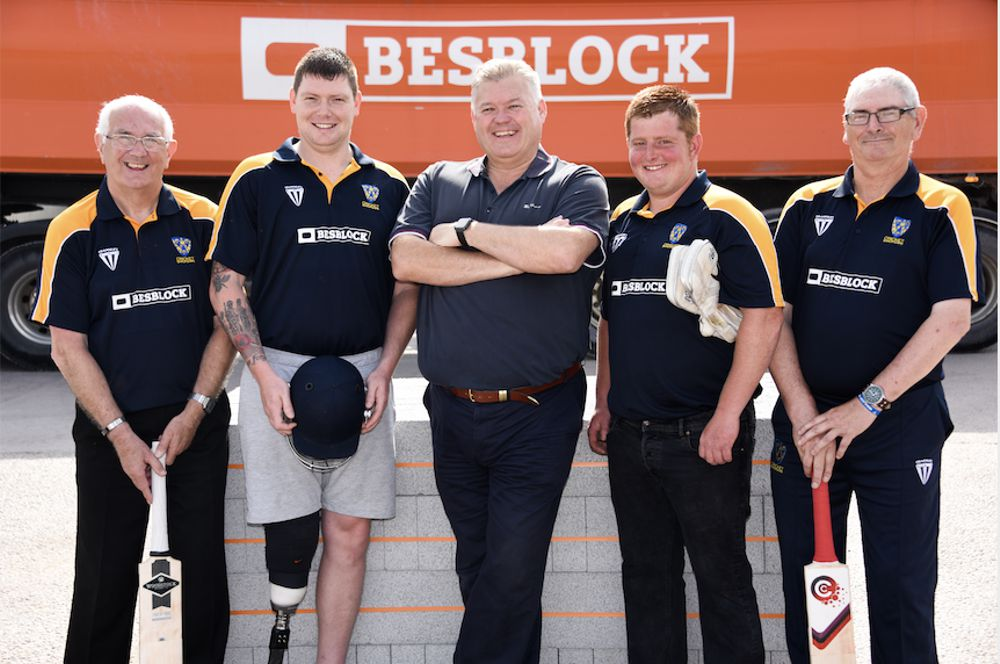 Besblock ends up sponsoring disabled cricket team thanks to a chance haircut