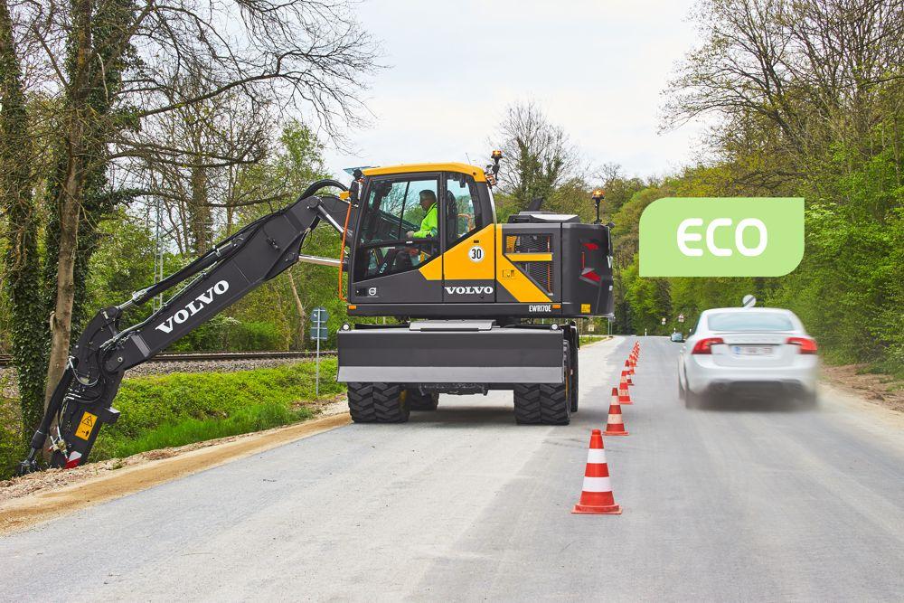 VolvoCE improving excavator fuel efficiency