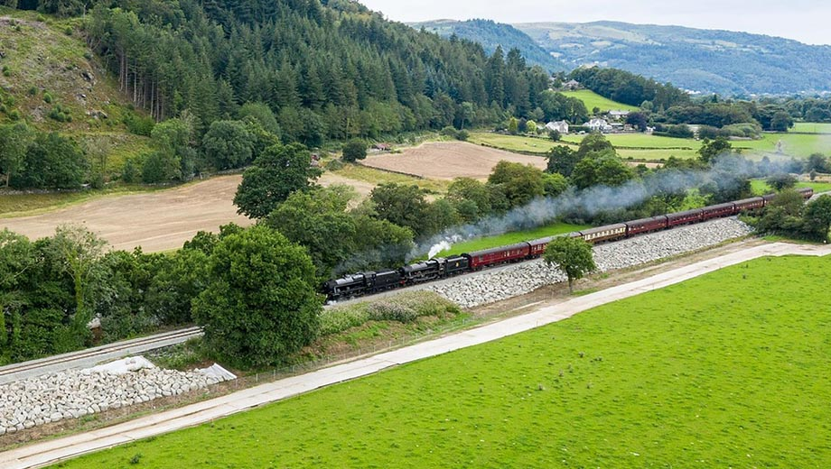 Conwy Valley line hosts steam train to celebrate reopening