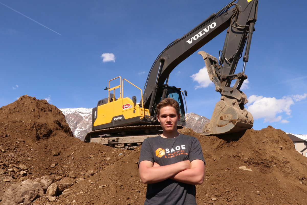 At just 14 years old Lance Matheson is an excavator operator and demolition company owner