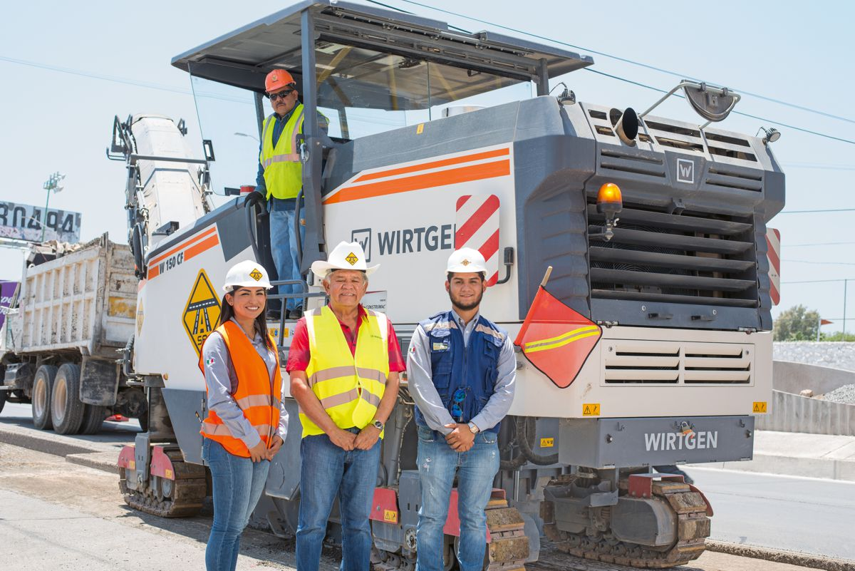 Wirtgen W150CF mills the way for new Bus Rapid Transit in Torreón, Mexico