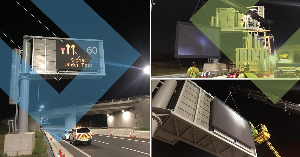 Next generation of digital road message signs a UK first for Costain and SWARCO