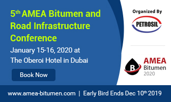 The 5th AMEA Bitumen and Road Infrastructure Conference January 15-16 2020, Dubai