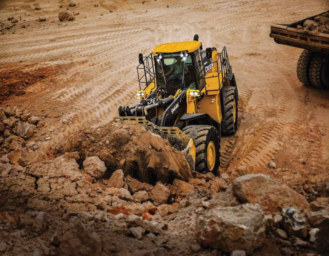 John Deere is extending the 20,000 hour 944K Hybrid Wheel Loader warranty