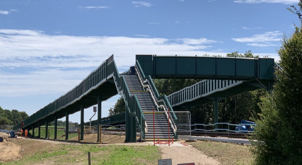 New Trimley St Martin pedestrian bridge delivering safer access across railway