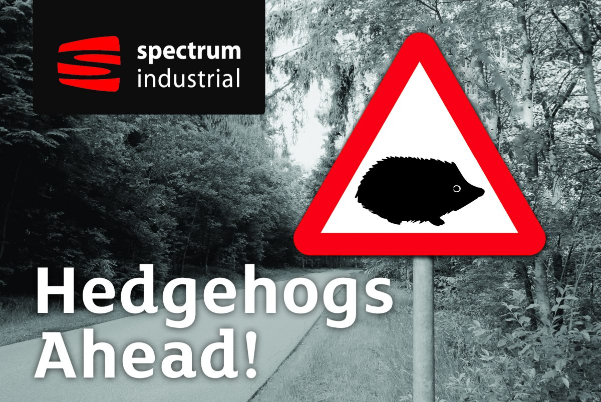 Hedgehogs Ahead Signage launched by Spectrum Industrial