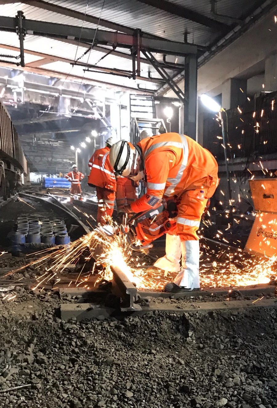 Liverpool Street tunnel has almost a mile of track replaced