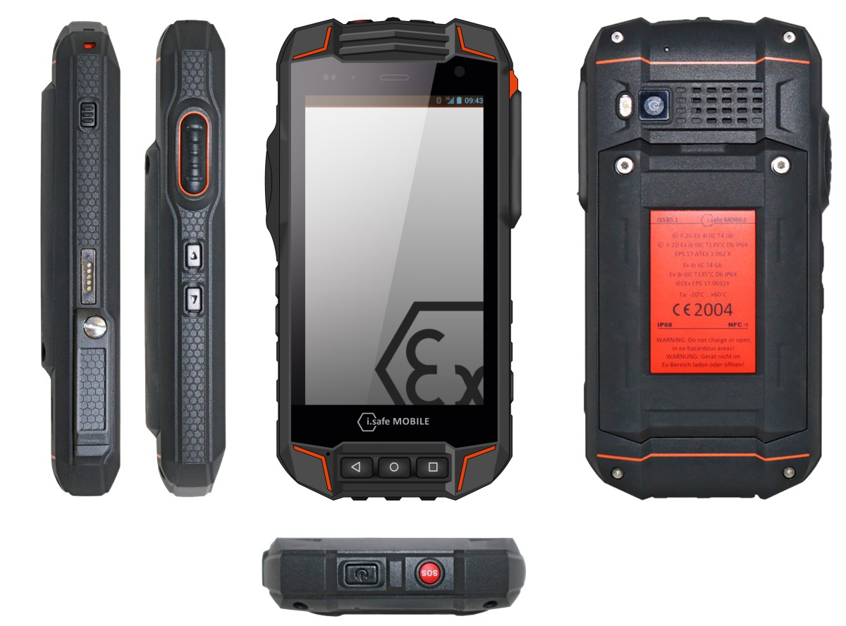 i.safe MOBILE introduces an industrial smartphone for potentially explosive environments