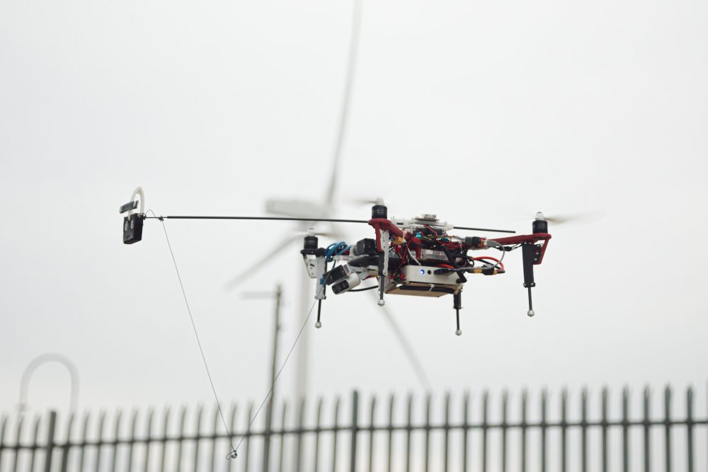 Autonomous drone in flight with turbine - Credit ORCA Hub