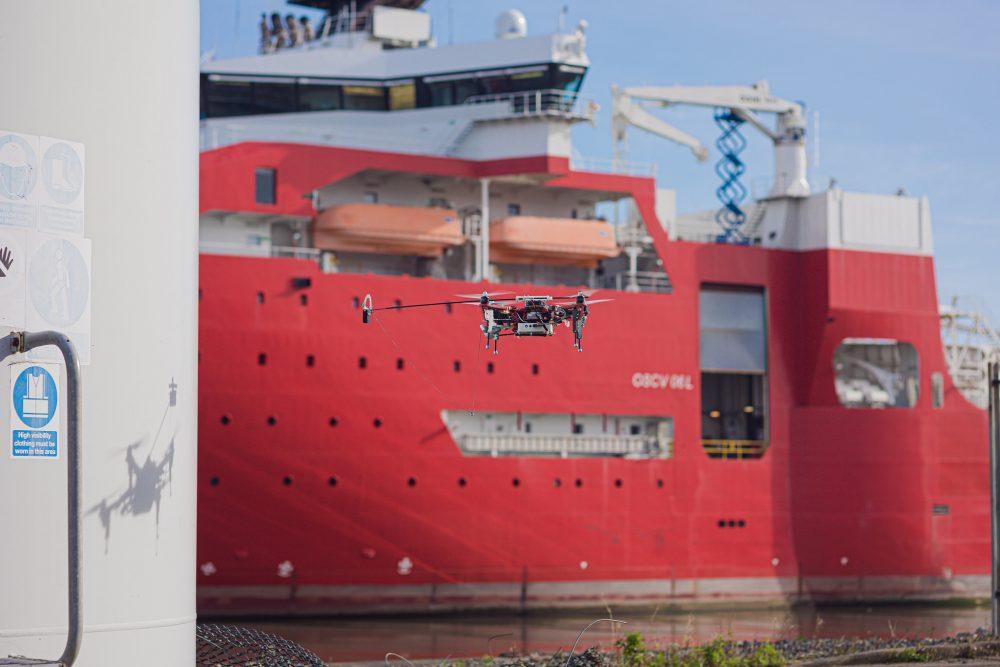 Autonomous drone in test flight - credit ORCA Hub
