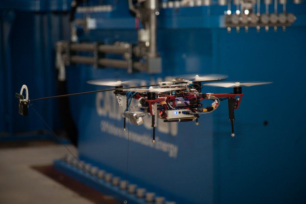 Autonomous drone in test flight indoors 2