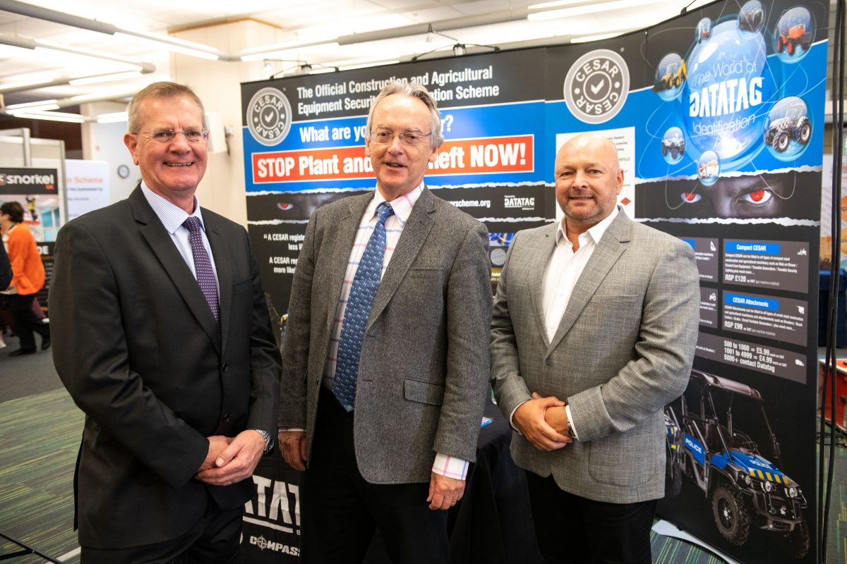 Left to right: CEA Consultant, Clive Harris, CEA Chief Executive, Rob Oliver and Datatag Managing Director, Kevin Howells. Datatag delivers the CESAR Scheme on behalf of the CEA.