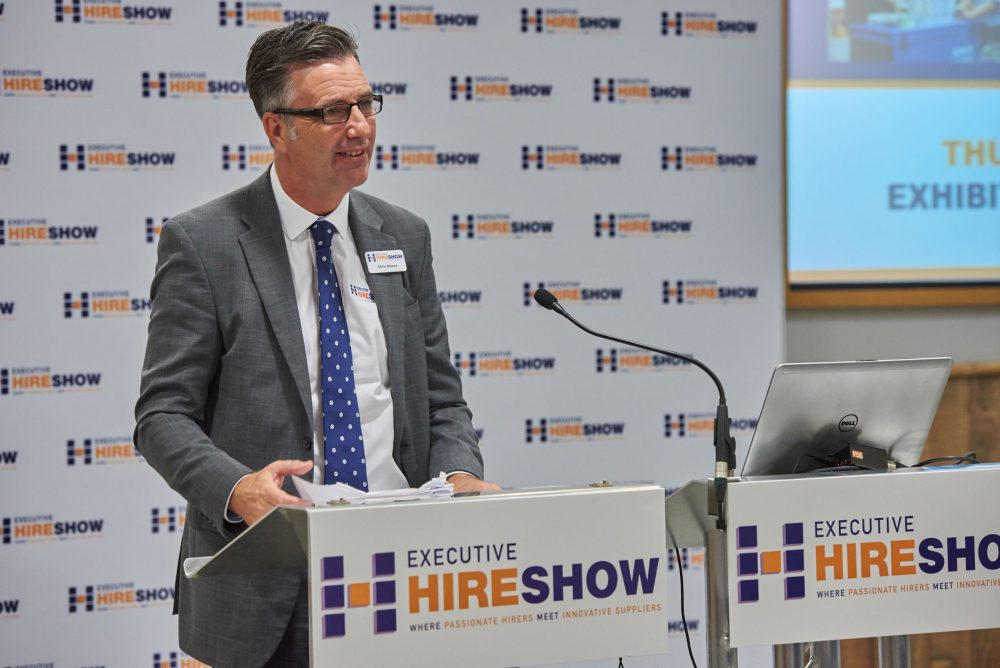 Publishing and Events Director, Chris Moore opens proceedings at the Executive Hire Kick-Off Meeting.