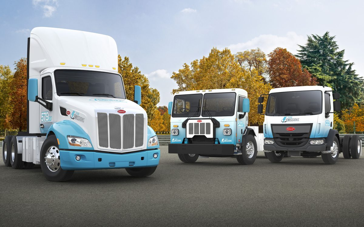 Peterbilt showcases a full line-up of Electric Trucks at the NACV Show