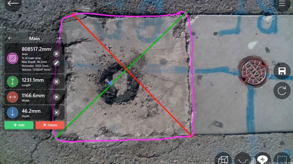 MobileWorxs introduces 3D measuring software for pothole inspection