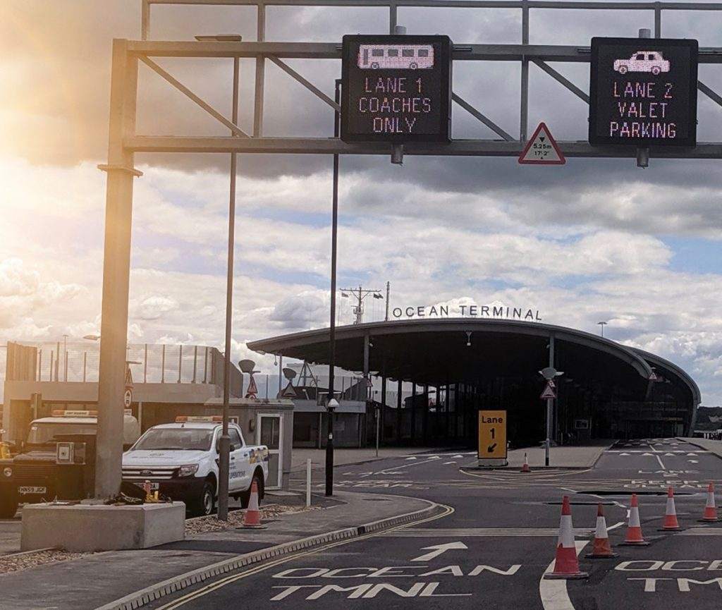 SWARCO Traffic helps ease traffic flow at the Southampton Ocean Cruise Terminal