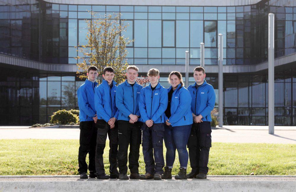 CDE apprentices Shea McErlean, James McErlean, Rian Molloy, Anton Bell, Niambh McNulty and Eoghan Canavan.