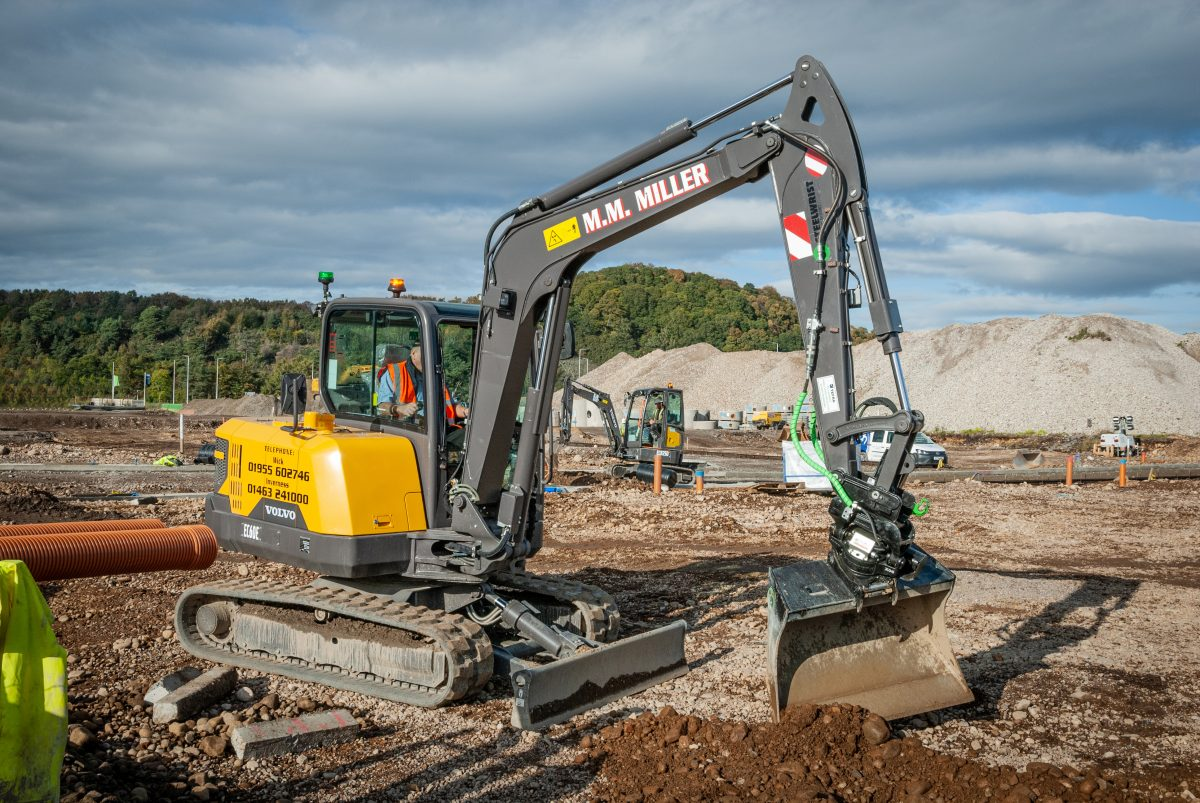 Two all-new Volvo EC60E Excavators head to Wick