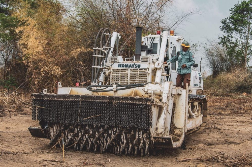 Komatsu mine clearing efforts showcased at Anti-Personnel Mine Ban Convention