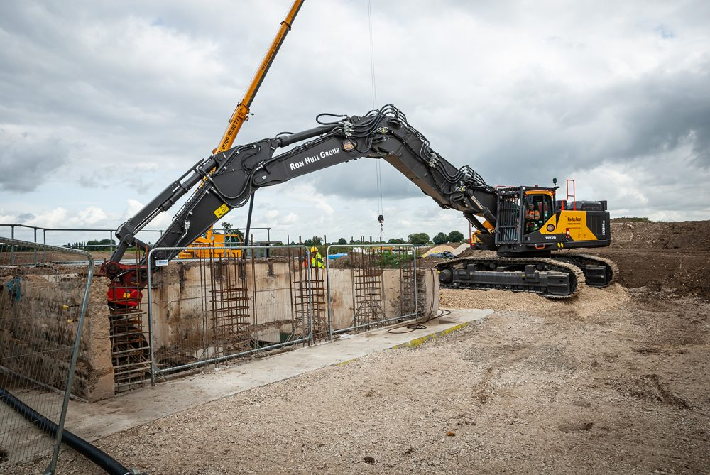 Volvo three-piece demolition rig Excavator the right choice for Ron Hull Demolition