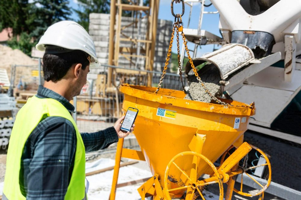Smart Pouring: The entire in-situ concrete process being optimised by a mobile app.