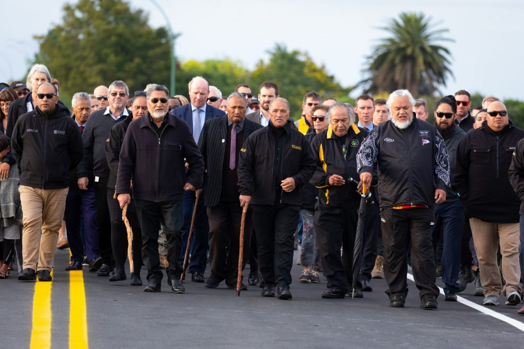 Iwi lead blessing procession