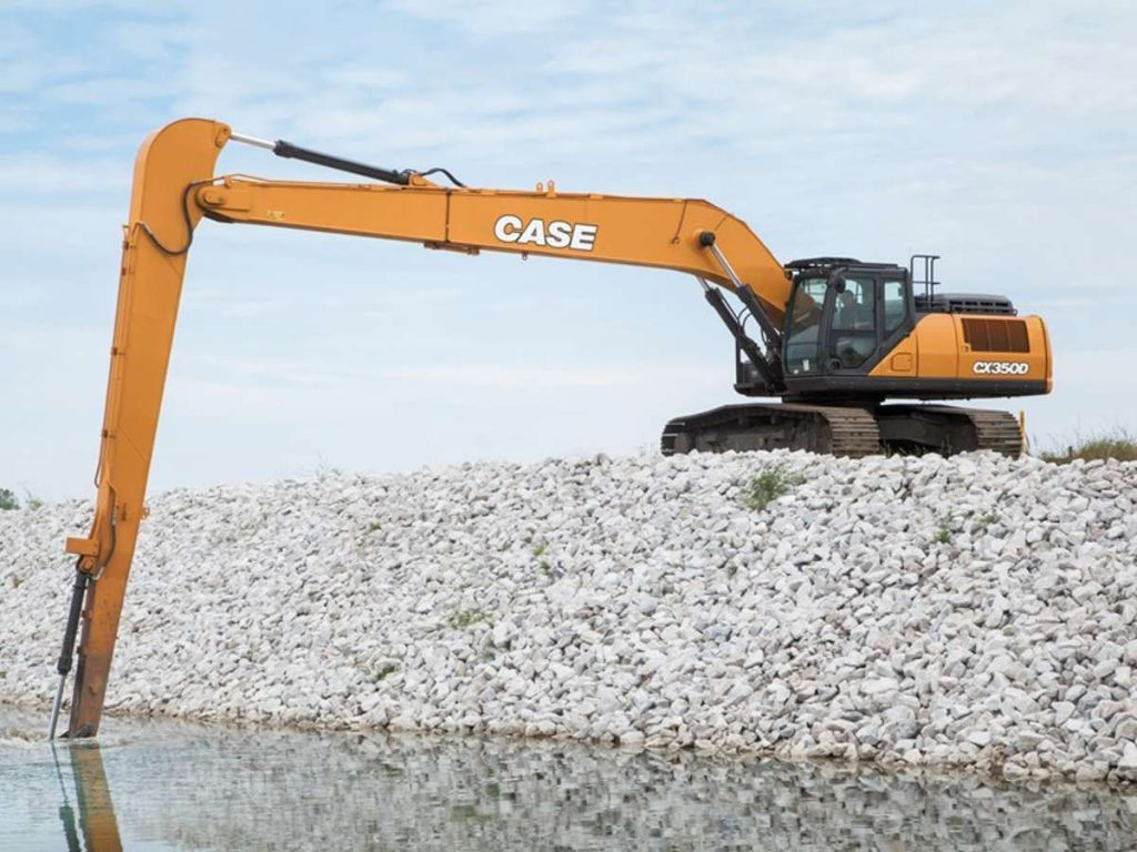 CASE launches the CX350D Long Reach Excavator