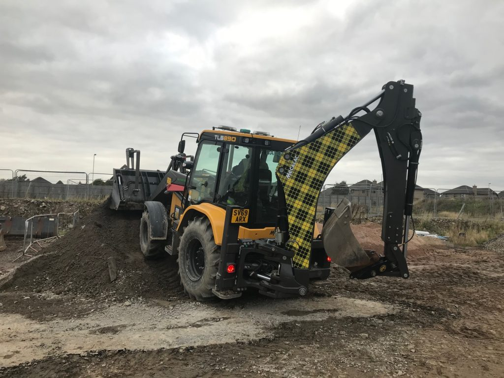 S and S Plant takes delivery of first Mecalac TLB890 backhoe loader with Active Drive