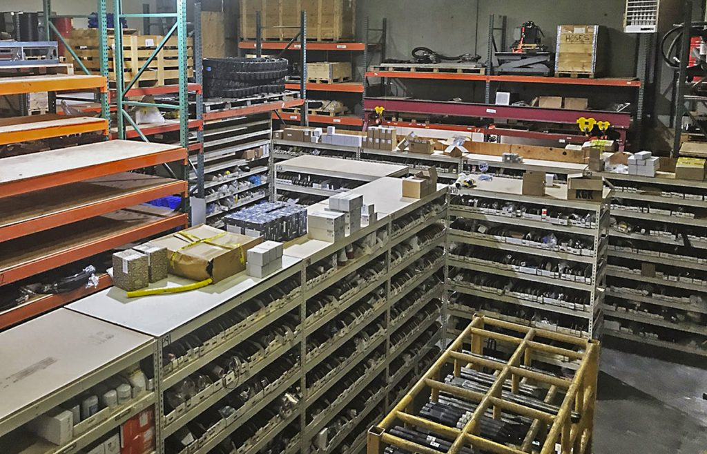 Brokk upgrades their parts warehouse facilities for better service and turnaround