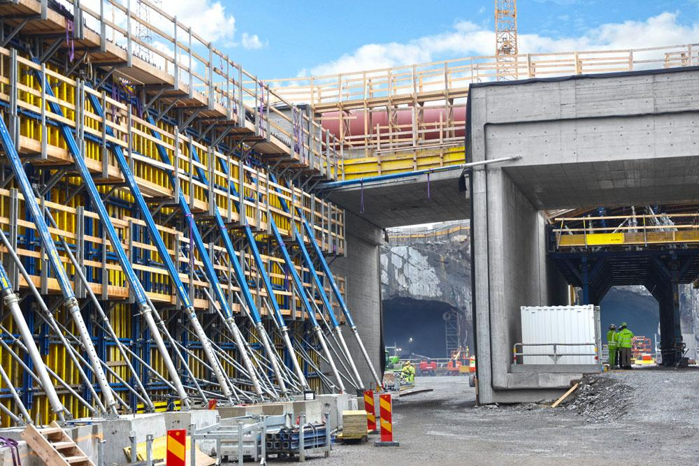 DOKA Formwork enables Sweden's biggest road and tunnel project