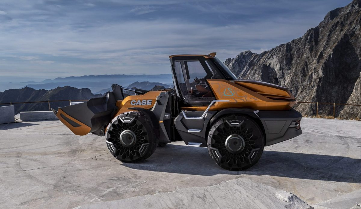 CaseCE wins Good Design Award for ProjectTETRA methane-powered wheel loader concept
