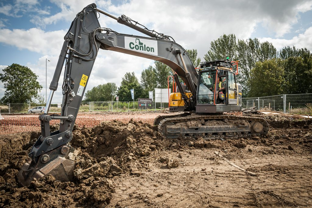Conlon invests in a batch of new Volvo reduced swing excavators