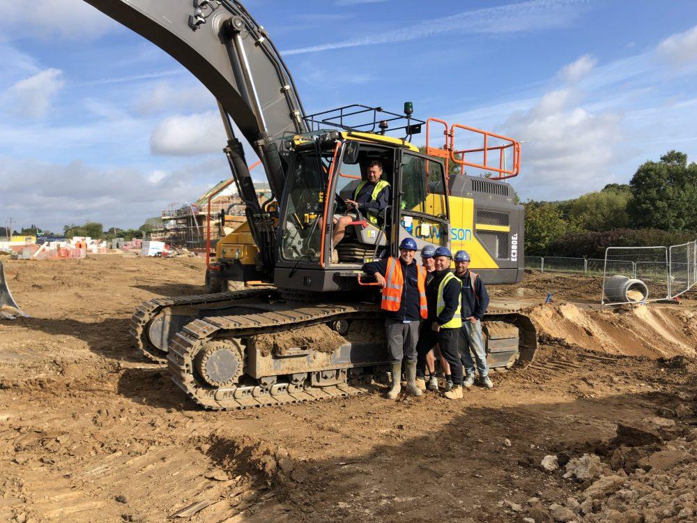 DS Watson Civil Engineering (Anglia) Ltd invests in a range of Volvo excavators