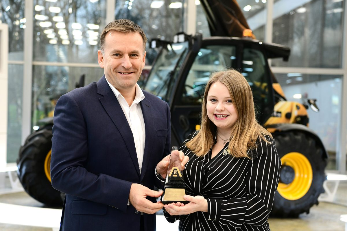 JCB Design Engineer wins Higher or Degree Apprentice of the Year award