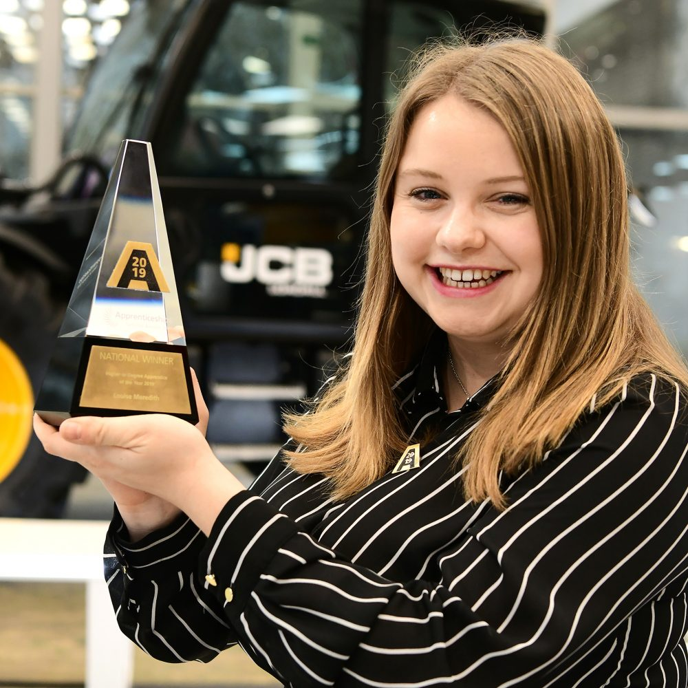Louise Meredith - JCB Design Engineer and winner of the Higher or Degree Apprentice of the Year award